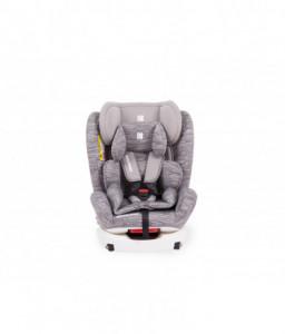 Kikka Boo Стол за кола 0-1-2-3 (0-36 кг) 4 Fix Light Grey Melange Снимка 1