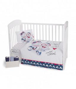 Kikka Boo Бебешки спален комплект 5 части Love Rome Blue Снимка 1