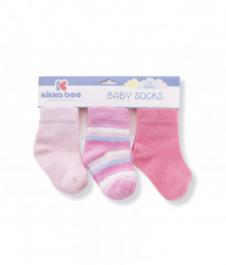 Kikka Boo Бебешки памучни чорапи STRIPES PINK 2-3 години Снимка 1