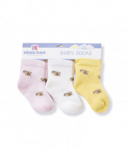 Kikka Boo Бебешки памучни термо чорапи SQUIRREL PINK 6-12 месеца Снимка 1