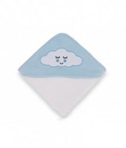 Kikka Boo Хавлия с качулка 80/80см велур Sleepy Cloud синя Снимка 1