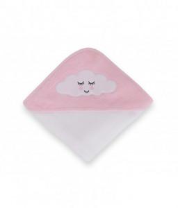 Kikka Boo Хавлия с качулка 80/80см велур Sleepy Cloud розова Снимка 1