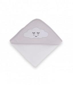 Kikka Boo Хавлия с качулка 80/80см велур Sleepy Cloud сива Снимка 1