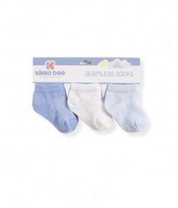 Kikka Boo Бебешки памучни чорапи терлички SOLID BLUE 0-6 месеца Снимка 1