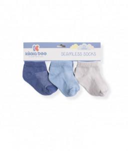 Kikka Boo Бебешки памучни чорапи терлички SOLID NAVY 6-12 месеца Снимка 1