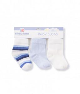 Kikka Boo Бебешки памучни чорапи STRIPES WHITE 1-2 год. Снимка 1