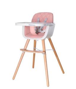 Kikka Boo Дървен стол за хранене Woody Pink Снимка 1
