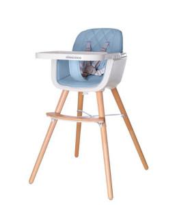 Kikka Boo Дървен стол за хранене Woody Blue Снимка 1