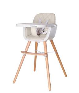 Kikka Boo Дървен стол за хранене Woody Beige Снимка 1