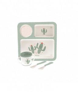 Kikka Boo Сет за хранене 4бр. Cactus Минт Снимка 1