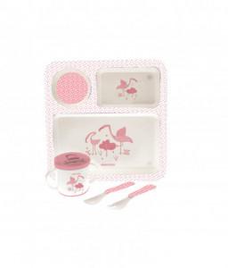 Kikka Boo Сет за хранене 4бр. Flamingo Розов Снимка 1