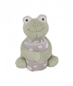 Kikka Boo Сет играчка с одеяло Froggy Снимка 1