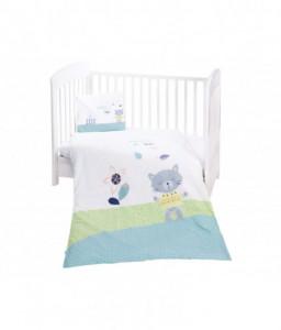 Kikka Boo Бебешки спален комплект 3 части Cat Lovely Day Снимка 1