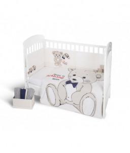 Kikka Boo Бебешки спален комплект 2 части EU style 60/120 Teddy Bear Снимка 1