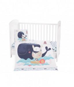 Kikka Boo Бебешки спален комплект 5 части Happy Sailor Снимка 1