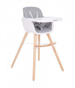 Kikka Boo Дървен стол за хранене Woody Grey Снимка 1
