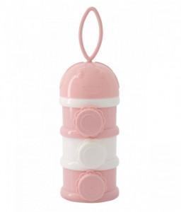Kikka Boo Дозатор за сухо мляко на три нива Pink Снимка 1