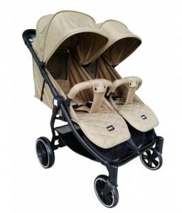 Kikka Boo Бебешка количка за близнаци Happy 2 2020 Beige Снимка 1
