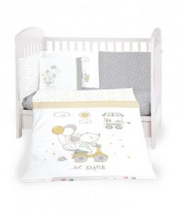 Kikka Boo Бебешки спален комплект 6 части 70/140 Joyful Mice Снимка 1