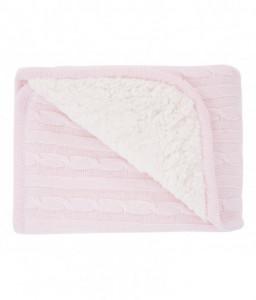 Kikka Boo Плетено памучно одеяло с шерпа Light Pink Снимка 1