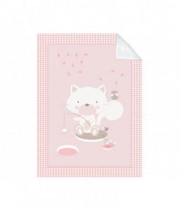 Kikka Boo Супер меко бебешко одеяло с шерпа Polar Fisher 80/110 см розово Снимка 1
