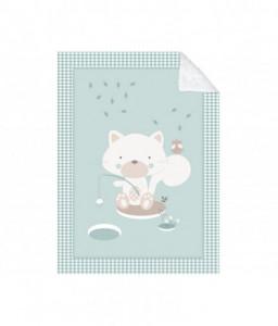Kikka Boo Супер меко бебешко одеяло с шерпа Polar Fisher 110/140 см мента Снимка 1
