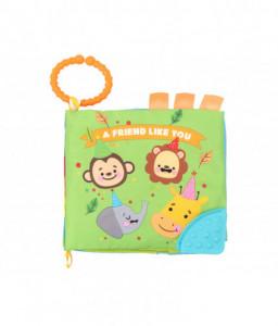 Kikka Boo Образователна текстилна книжка с чесалка Friend like you Снимка 1