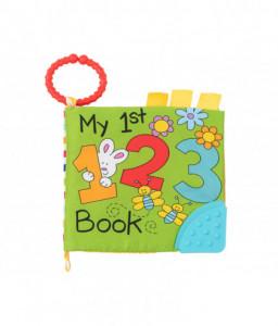 Kikka Boo Образователна текстилна книжка с чесалка 123 Снимка 1