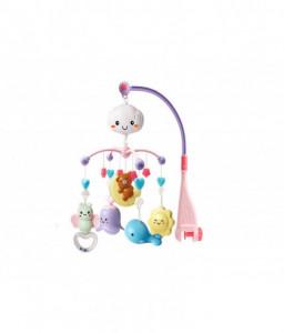 Kikka Boo Музикална въртележка с прожектор Bear on moon розова Снимка 1