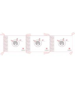 Kikka Boo Обиколник с вата Pink Bunny 210см Снимка 1