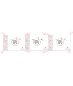 Kikka Boo Обиколник с вата Pink Bunny 180см Снимка 1