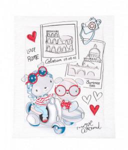 Kikka Boo Олекотено одеяло ранфорс 90/110см Love Rome Снимка 1