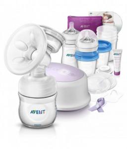 Philips AVENT Комплект за кърмене Natural с помпа за изцеждане Comfort Silent Снимка 1