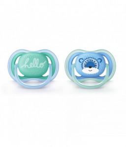 Philips AVENT Ортодонтични залъгалки Ultra Air + стерилизаторна кутия (6-18м)