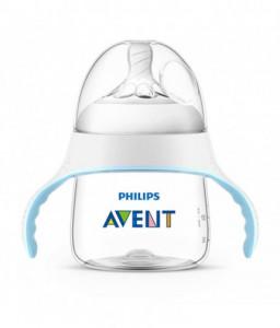 Philips AVENT Шише NATURAL - тренировъчно шише за преход към чаша (с дръжки)