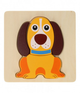 Jouéco Дървен пъзел Jouéco - Кученце Снимка 1