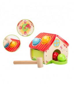 Jouéco Дървена игра с чукче и топки