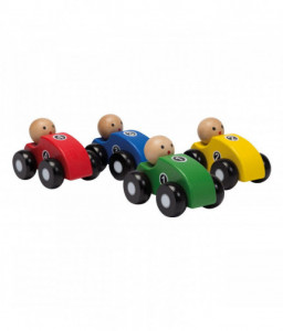 Jouéco Дървени състезателни колички