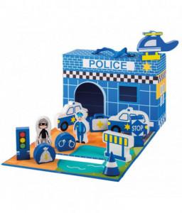 Jouéco Полицейско управление с дървени фигурки