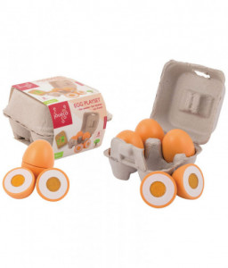Jouéco Дървени яйца - Комплект за детска кухня