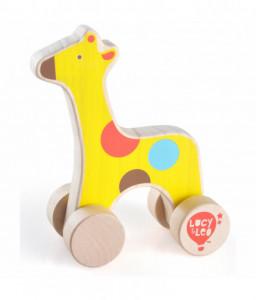 Lucy&Leo Дървени животни на колела за бутане