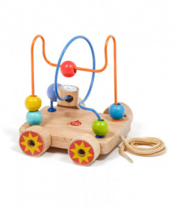 Lucy&Leo Дървена играчка за дърпане и лабиринт с мъниста - 2 в 1
