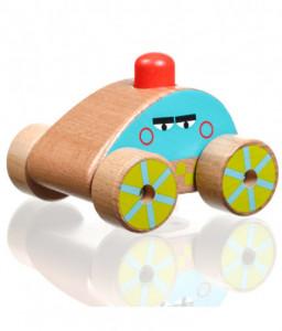 Lucy&Leo Дървена количка за бутане с бибитка