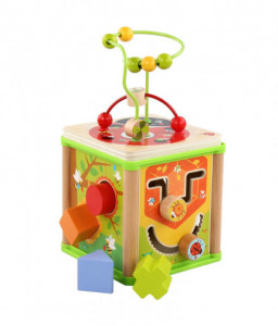 Lucy&Leo Дървен дидактически куб - Лято