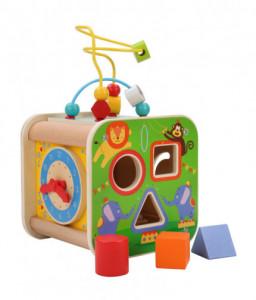 Lucy&Leo Дървен дидактически куб - Цирк