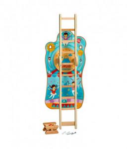 Lucy&Leo Дървена интерактивна играчка за стена - Цирк