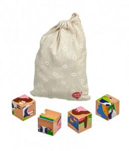 Lucy&Leo Дървени кубчета - Домашни животни