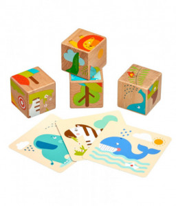 Lucy&Leo Дървени кубчета - Диви животни