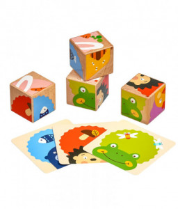 Lucy&Leo Дървени кубчета - Кой какво яде?