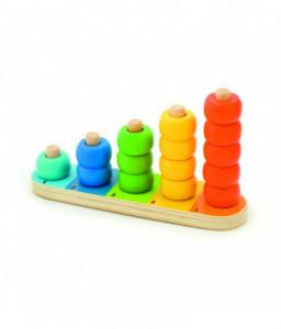 Pino Дървена низанка Pino - Цветни пръстени Снимка 1